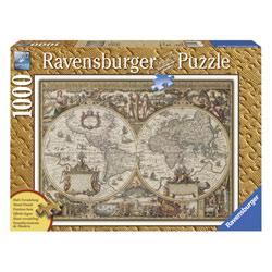 Puzzle 1000P Carte du monde ancienne