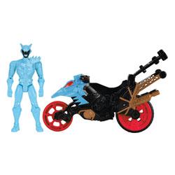 Power Rangers moto cascade et figurine Aqua