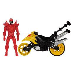 Power Rangers moto cascade et figurine Rouge