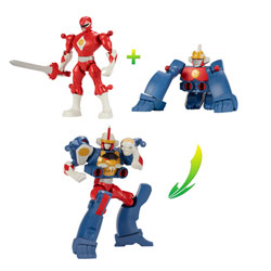 Power rangers pack mixx n'morph Ranger Rouge & Ape Zord