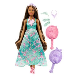 Barbie chevelure 3 en 1 bleue brune