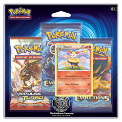 Pokemon pack 3 boosters xy12 Roussil