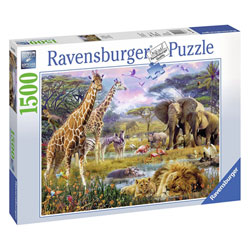 Puzzle 1500 pièces Afrique multicolore