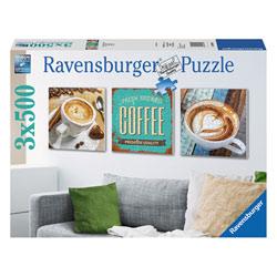 Puzzle 3 X 500 pièces Delice de 3 cafés