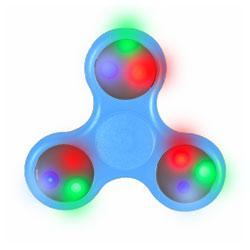 Hand Spinner lumineux LED Bleu