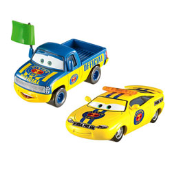 Cars - Pack 2 Vehicules Dexter Hoover Charlie Checker