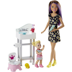 Barbie-Coffret Babysitter Skipper pot