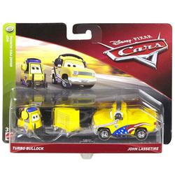 Cars-Pack de 2 véhicules Turbo Bullock et John Lassetire