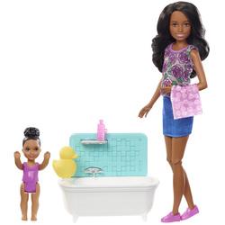 Barbie-Coffret Babysitter avec baignoire 1