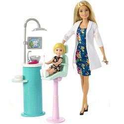 Barbie-Coffret dentiste avec robe