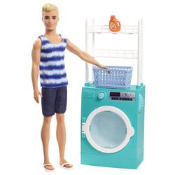 Barbie - Poupée Ken avec machine à laver