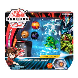 Figurines Bakugan Battle Planet Pack - Haos Serpenteze et Ventus Howlkor