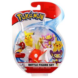 Figurines Pokémon Magikarp Capumain et Pikachu