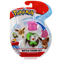 Figurines Pokémon Efflèche Evoli et Metamorph