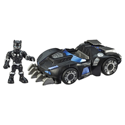 Figurine Black Panther avec son bolide - Marvel Super Hero Adventures