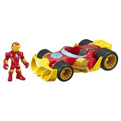 Figurine Iron Man avec son bolide - Marvel Super Hero Adventures