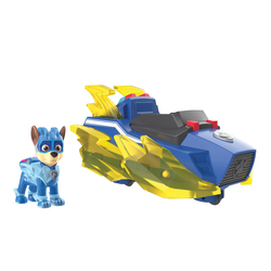 Véhicule avec figurine Chase Mighty Pups Charged Up Pat'Patrouille