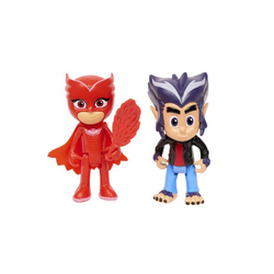 Coffret 2 figurines Bibou et Howler Pyjamasques