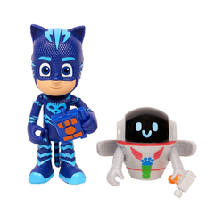Coffret 2 figurines Yoyo et PJ Robot Pyjamasques