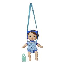 Poupon châtain et porte-bébé - Littles Baby Alive