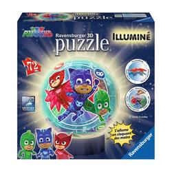 Puzzle 3D rond lumineux Pyjamasques
