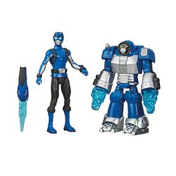 Figurine Ranger Bleu 15 cm et zord - Power Rangers Beast Morphers