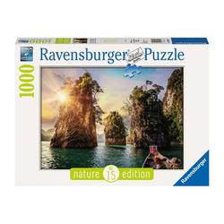 Puzzle 1000 pièces - Lac de Cheow Lan, Thaïlande