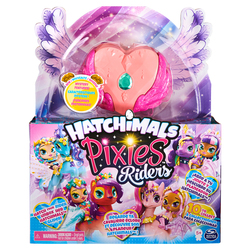 Hatchimals Pixies Riders - Corail, rose et émeraude