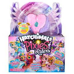 Hatchimals Pixies Riders - Coeur rose, violet et bleu