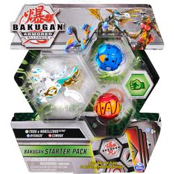Bakugan - Starter pack Trox x Nobillious Ultra blanc - Saison 2 Armored Alliance