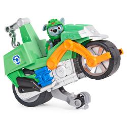 Pat'Patrouille Moto Pups - Figurine Rocky + véhicule