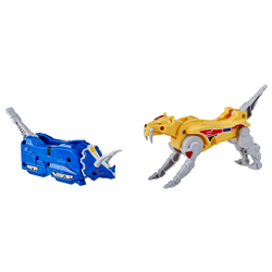 Figurines Zords Power Rangers - Triceratops Dinozord & Sabertooth Tiger Dinozord