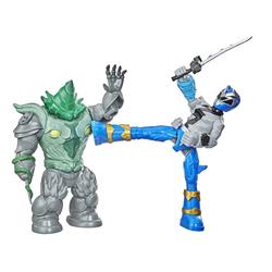 Figurines Power Rangers Dino Fury Battel Attackers - Blue Ranger et Shockhorn