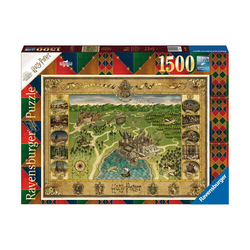 Puzzle 1500 pièces Harry Potter - La carte de Poudlard