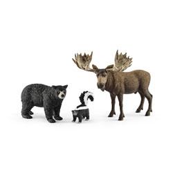 Animaux Forêt amérique - Figurines x 3