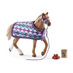 Figurine cheval et couverture