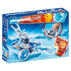 6832-Robot de glace avec lance disques - Playmobil Sport et action