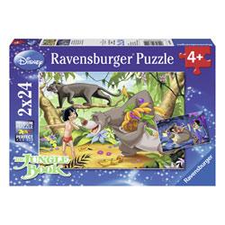 2 puzzles 24 pièces Disney Le livre de la jungle