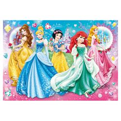 Puzzle 104 pièces bijoux Disney Princesses