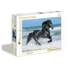 Puzzle 500 pièces cheval noir