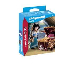 9087-Figurine flibustière avec trésor Playmobil