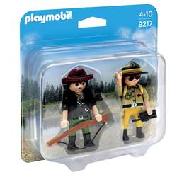 9217 - Duo figurines garde forestier et braconnier