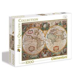 Puzzle 1000 pièces mappemonde antique