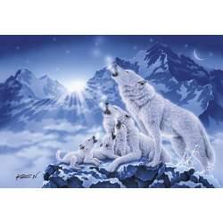 Puzzle 1000 pièces famille de loups