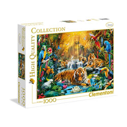 Puzzle 1000 pièces tigre mystique
