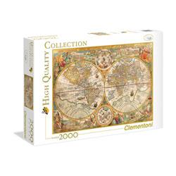 Puzzle 2000 pièces ancienne carte