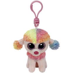 Beanie Boo's-Porte-clés peluche Rainbow le caniche
