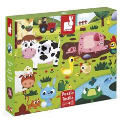 Puzzle tactile animaux de la ferme