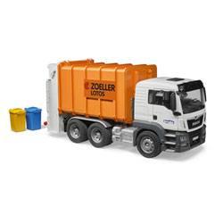 Camion poubelle Bruder Man tgs orange
