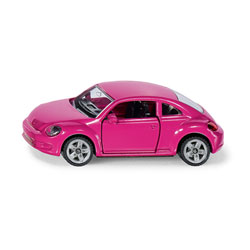 Voiture miniature Volkswagen New Beetle rose